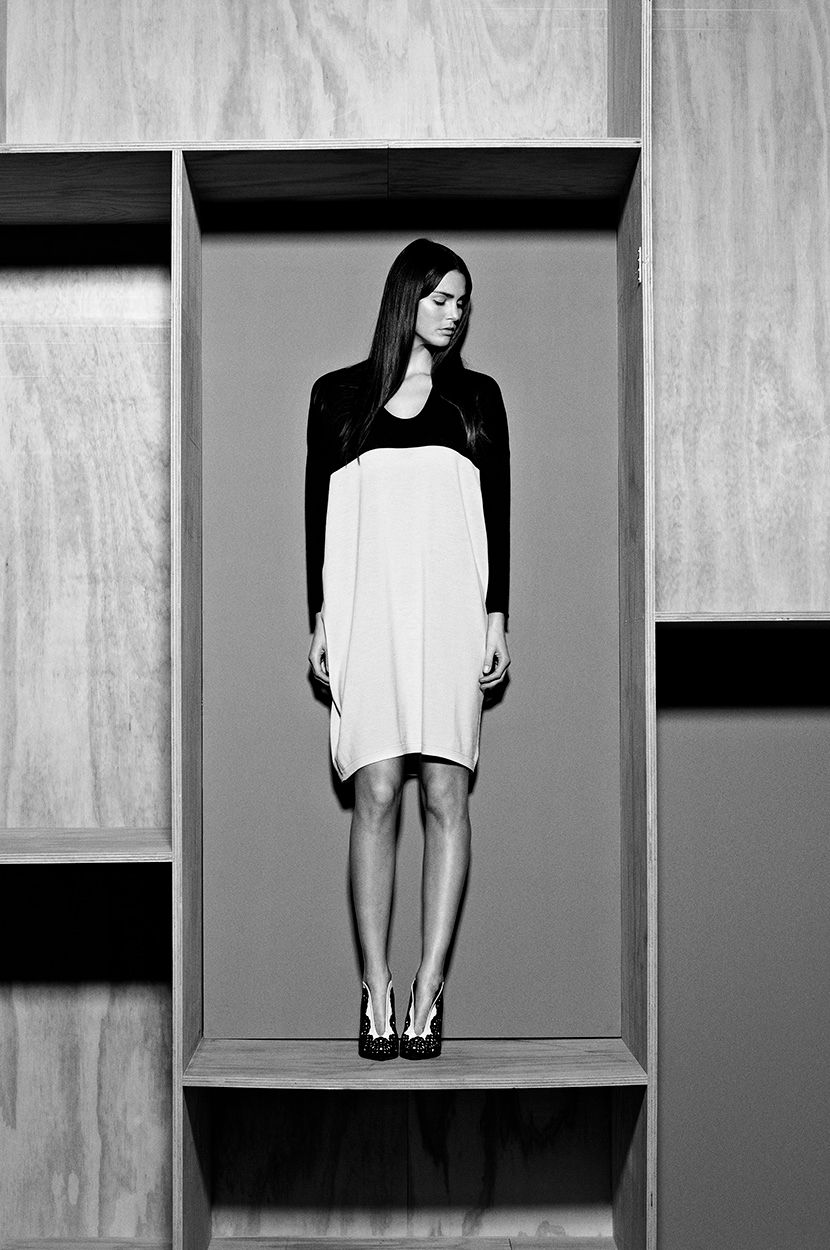 Robe fashion black white