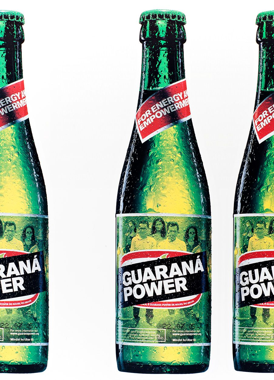 Superflex guarana power advertising bottle